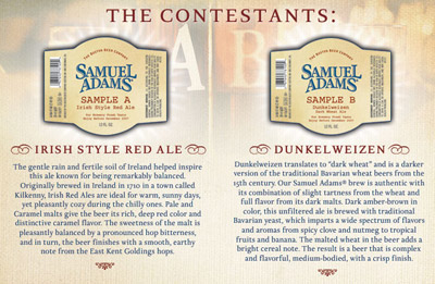 Samuel Adams contest choices
