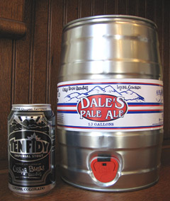 Dale's can and mini-keg