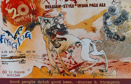 Flying Dog Raging Bitch label