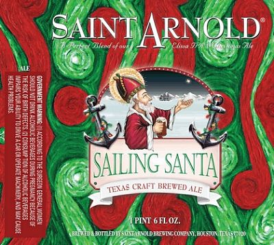 Saint Arnold's Christmas 'blend': Sailing Santa